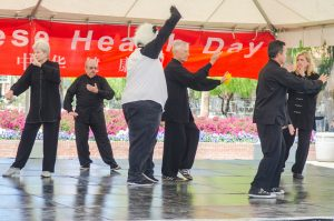 Demonstrating at Tucson Confucius Institute's Health Day Festival