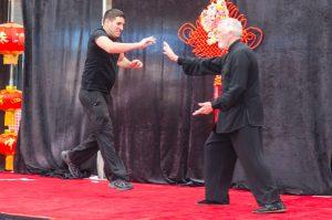 Push hands demonstration Sifu Jordan Misner and Scott Risano